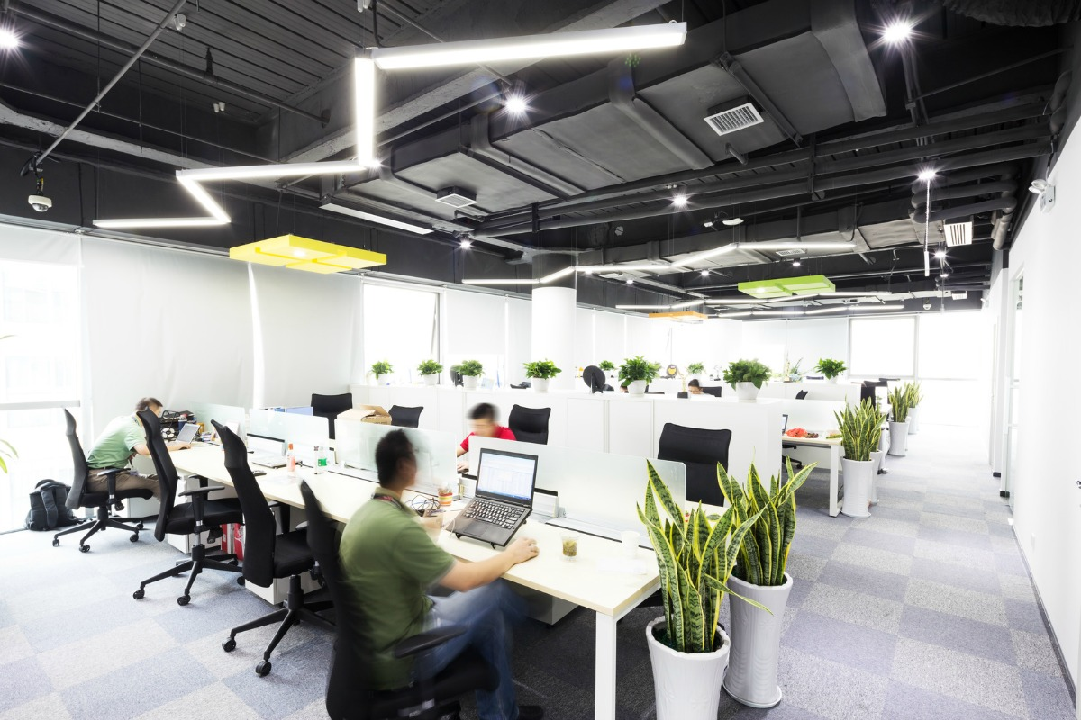Offices can recreate the effects of natural light at any time of day