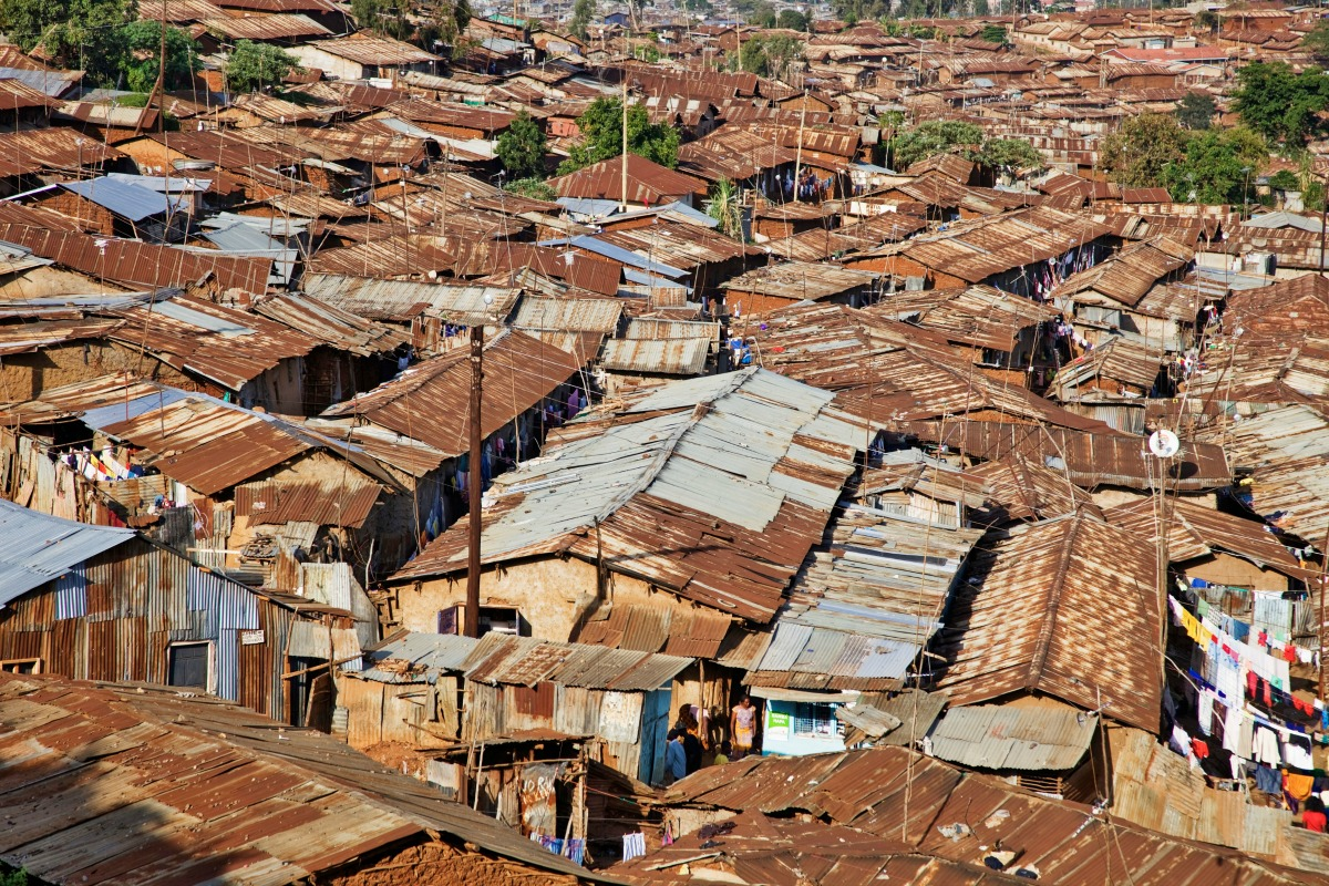 Kibera, Africa: an example of the challenges of increasing urbanisation