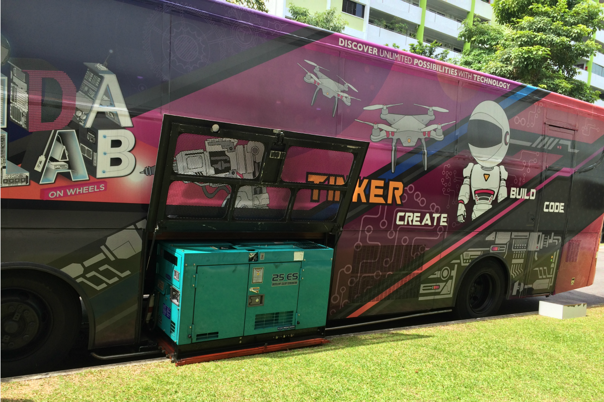 Lab on Wheels bus. There are four of these with one suitable for special needs children