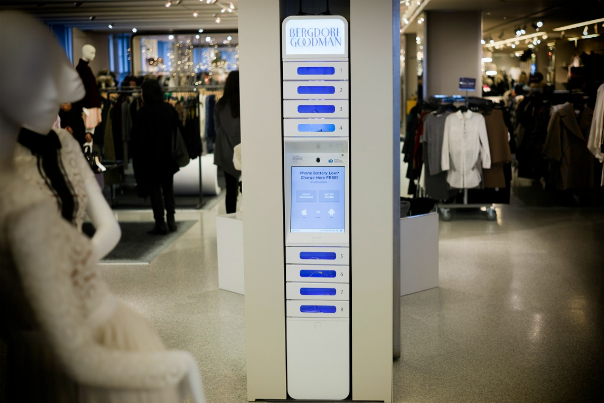 Luxury retailer Neiman Marcus is among those stores that have ChargeItSpot kiosks