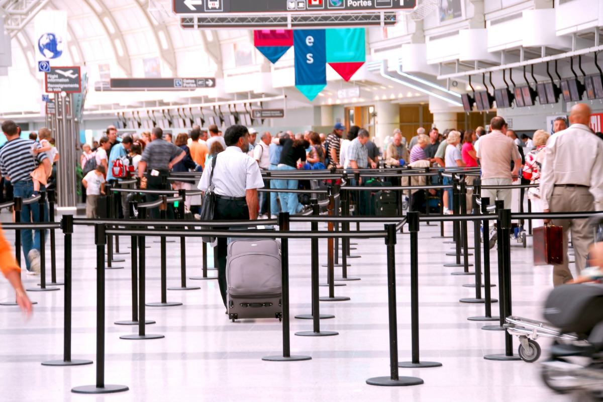 The software can be used to help detect long queues at an airport