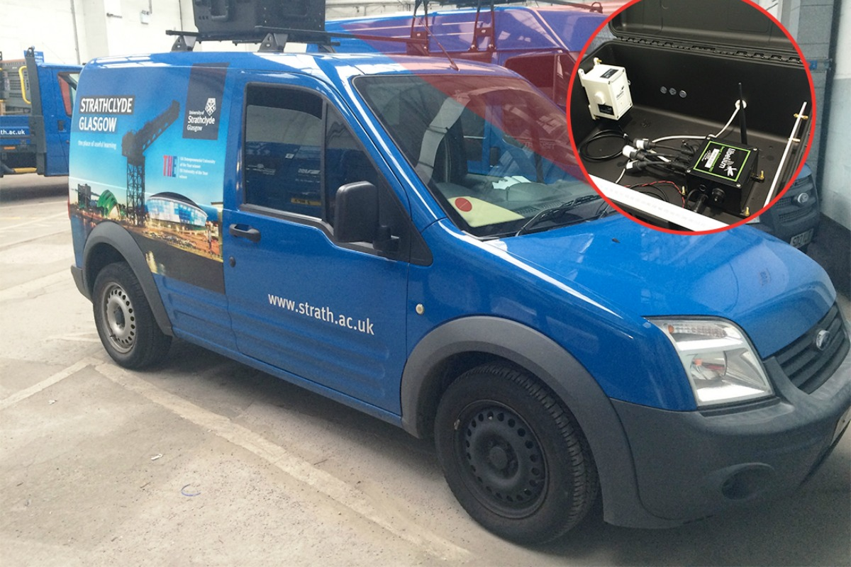 The mobile air quality system has been integrated into vans