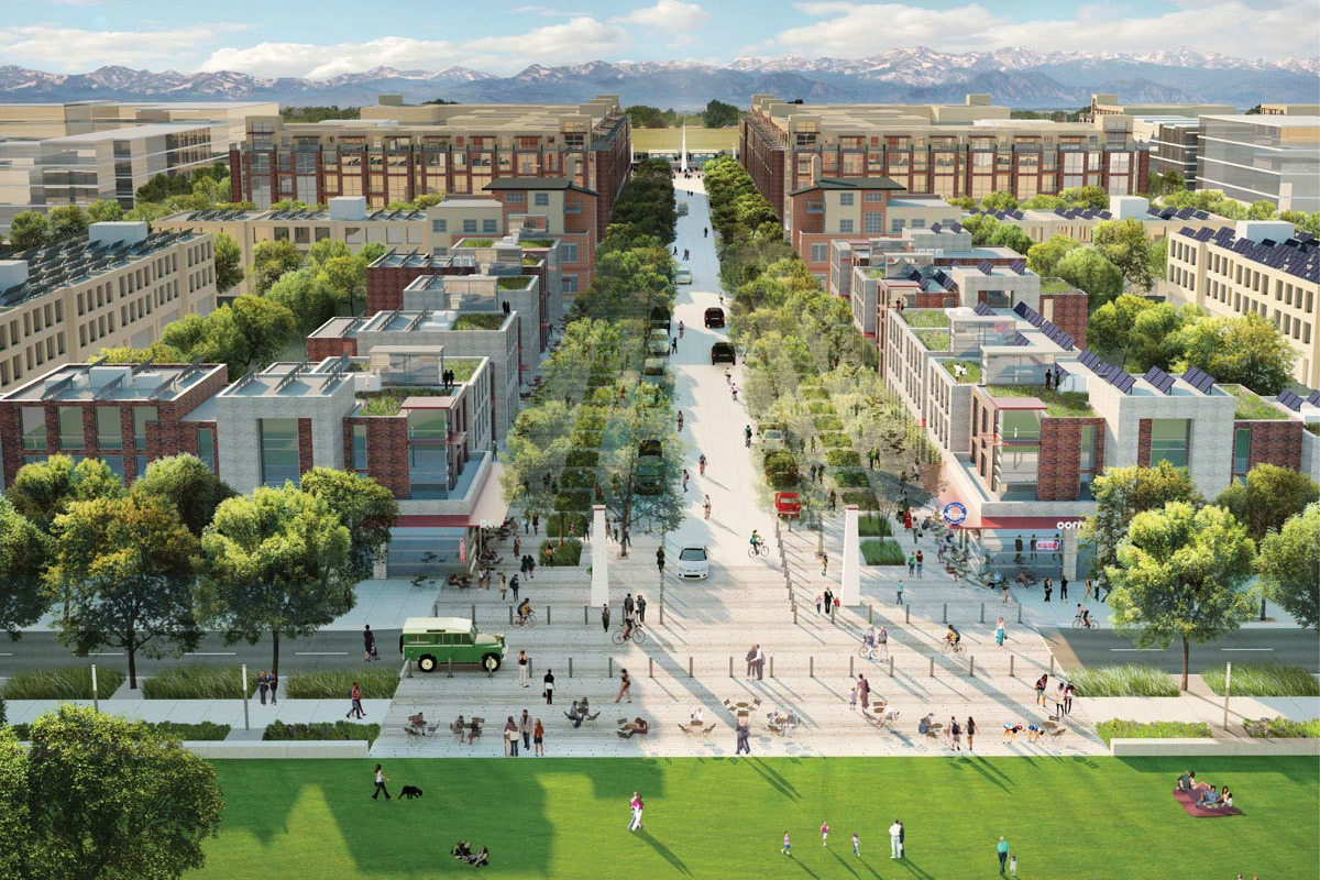 Peña Station NEXT in Denver, home to the microgrid and solar plus storage project