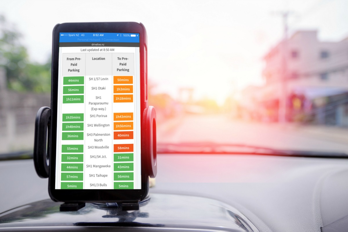 DriveLive app on a smart phone helping to beat congestion