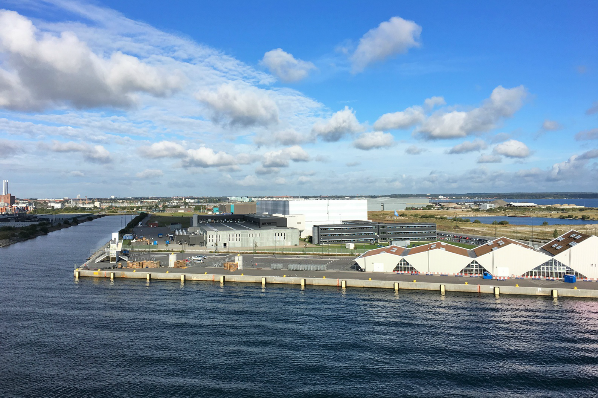The storage system has been installed in the harbour district of Nordhavn