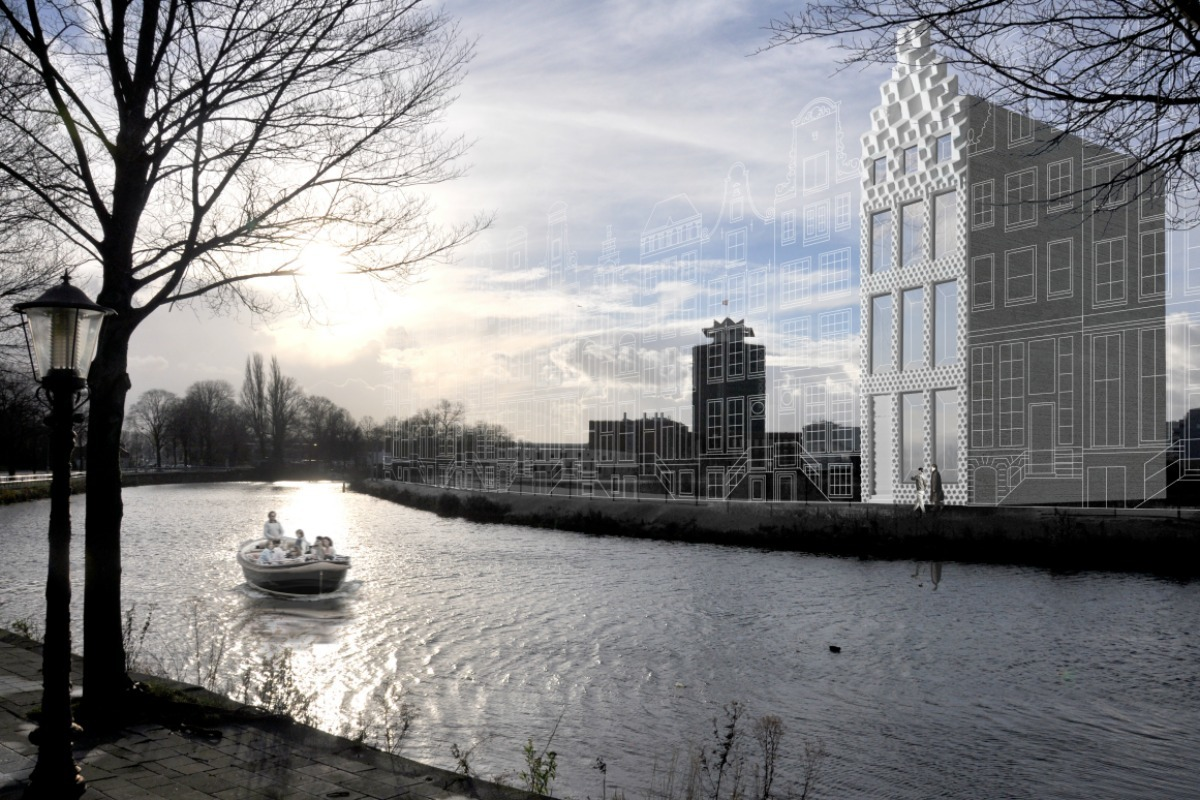 Artist impression of 3D Print Canal House, courtesy of DUS Architects.