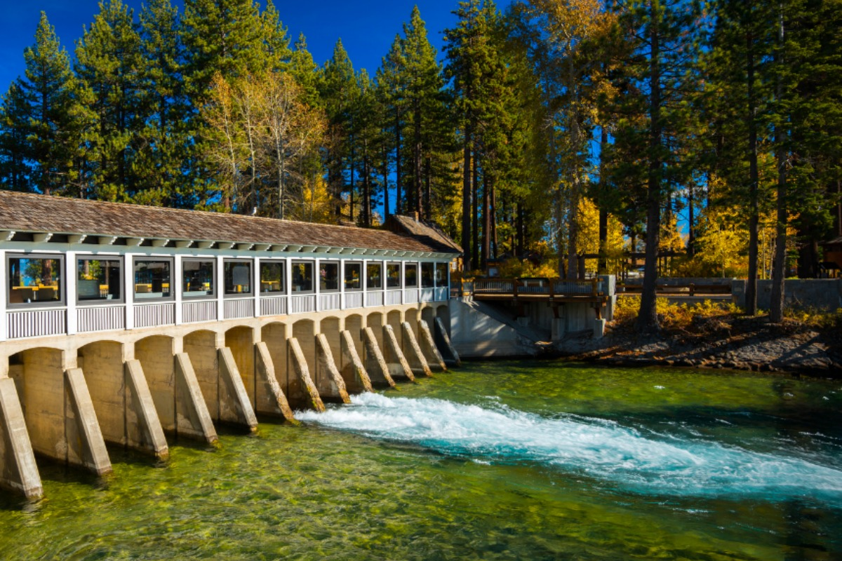 Lake Tahoe dam in Placer County