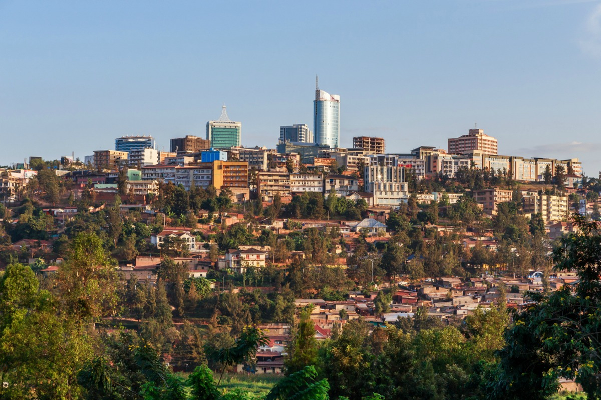 Kigali, capital of Rwanda, the first country to implement the Internet for All methodology