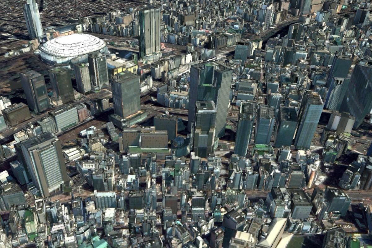 The AW3D vector of Tokyo demonstrates what is possible with the technology