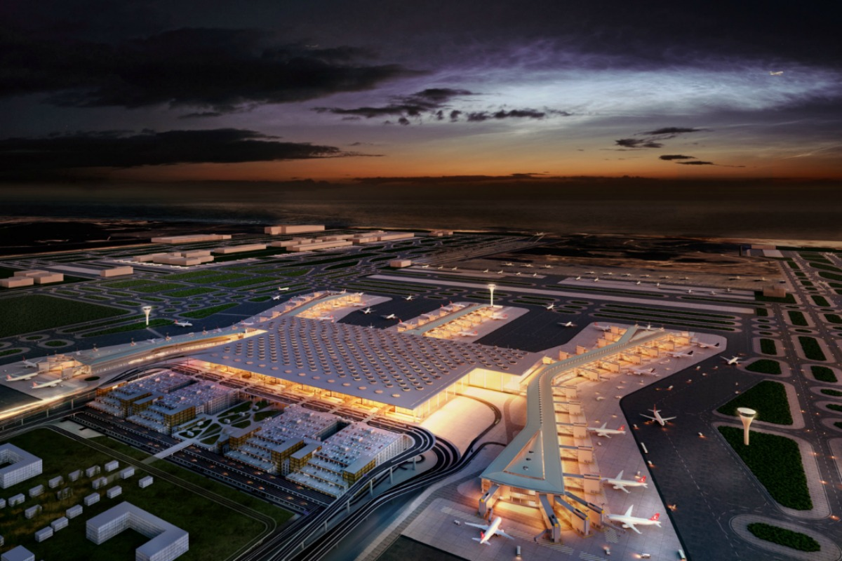 When completed, Istanbul New Airport will have an annual passenger capacity of 200 million