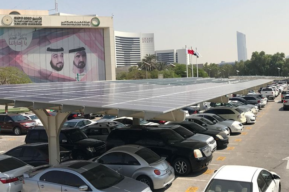The carports project is part of the Shams Dubai initiative to increase reliance on clean energy